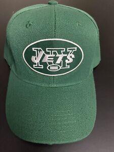 NEW YORK JETS EMBROIDERED HELMET LOGO HAT CAP ADJUSTABLE CURVED BILL NEW