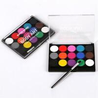 15 Color Body Face Paint Kit Art Makeup Painting Pigment Dress Up Party COSPLAY