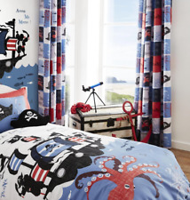 Catherine Lansfield Kid's Pirate Ship Blue Boys Accessories Bedding Duvet Set Single
