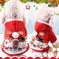 Costume Vêtement Pull Manteau Quatre Patte Pour Chien Animaux Chaud Coton Noël