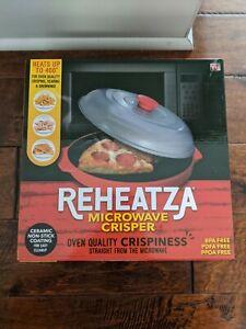 Reheatza Microwave Crisper Searing Browning-Ceramic Non-Stick. New In Box.