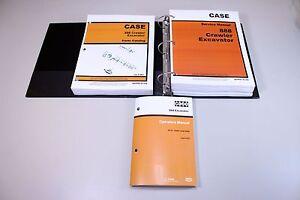 CASE 888 CRAWLER EXCAVATOR SERVICE PARTS OPERATORS CATALOG MANUALS IN BINDER
