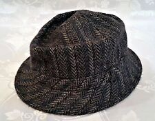 VINTAGE AUTHENTIC GLOBETROTTER WOOL BLEND GRAY MENS FEDORA HAT SIZE US7 EU  56 8a2c38b21775