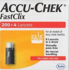 FastClix Accu Chek Lancets 200 + 4 * New Original Pack * Long Expiry Date 2022