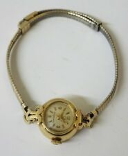VTG AUTHENTIC LADIES OMEGA LADYMATIC 14K 17 JEWELS WORKING WIND UP WATCH