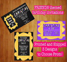 Set of 12 Friends TV Show Birthday Invitations The One Where Turns Free Envelope