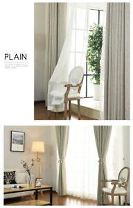 100% Blockout Pinch Pleat Curtain Curtains DARKENING Bedroom Natural Beige Color