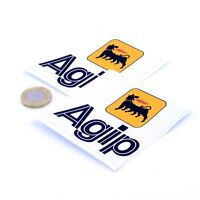 Agip Oil Stickers Classic Car Motorcycle Racing Sticker Vinyl Decals 75mm x2