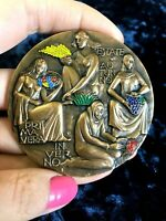 1992 Turin Italy The Four Seasons (Vivaldi) Splendid bronze medal 70mm, Auguri