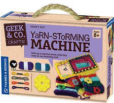 Yarn Storming Machine Craft kit Geek & Co. Thames & Kosmos Knitting Kids