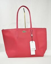 Lacoste NF1344PO PU Split Cow Leather/PVC L1 Large Shopping Bag with 25cm Drop