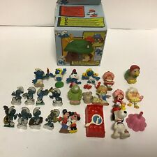 Vintage 1980's Smurf and Strawberry Shortcake  toy lot Rare must see