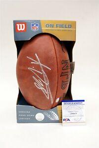 ADRIAN PETERSON NFL Minnesota Vikings Auth Signed Wilson Football w PSA/DNA COA