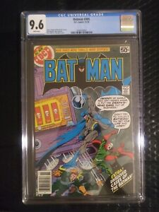 Batman 305 CGC 9.6 WHITE PAGES BEAUTIFUL BOOK