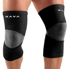 Arthritis Pain Relief Knee Support Sleevs Mava Sports Large Pair In Black