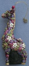Jay Strongwater Mille Fiori Giraffe Ornament Swarovski Elements New in Box