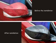 Real Carbon Fiber Side Mirror Cover Cap For INFINITI Q50 Q50S Q60 Q70 QX30 14+