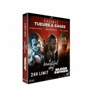 COFFRET BLURAY TUEURS A GAGES A BEAUTIFUL DAY+24H LIMIT+BLOOD FATHER NEUF!!