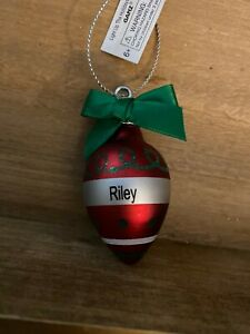 Ganz Light Up The Holidays Ornament Personalized RILEY