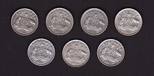1945 to 1952 Sixpence 7 coin set