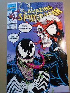 AMAZING SPIDER-MAN #347 Venom cover Marvel Comics 1991 VF