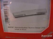 1/87 Herpa Zubehör 6x Warnlichtbalken Techno-Design 8000 LKW 053747