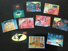 Akira Full Set Of 9 Preview Cards And Lead Prism Card - 1994