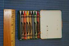 Original Metal Case Binney & Smith 8 Pack Crayons Never Used