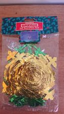 Pack 2 x Vintage 1970's Coloured Foil Christmas 9ft garlands 1 x starburst Retro