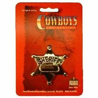 Sheriff Metal Badge Cowboy Toy Replica Silver Color Bby Parris Manufacturing