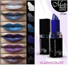 Kleancolor Madly MATTE Lipsticks Set - Black, White, Teal, Grey,Blue,Purple 1881