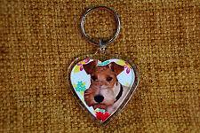 Fox Terrier Gift Keyring Dog Key Ring heart shaped gift Bithday Gift