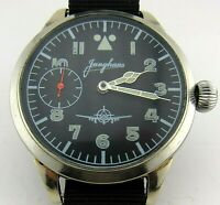 JUNGHANS wristwatch military style for pilot/aviator, cupronickel case,glow dial