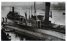 Captured German Submarine UC5 Thames unused sepia RP old postcard  Rotary