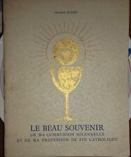Livre Le beau souvenir de ma communion solennelle profession de foi catholique