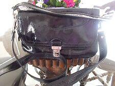 NWT  $228.00 Coach Poppy Patent Leather Lyla Black Handbag 18161 BRAND NEW