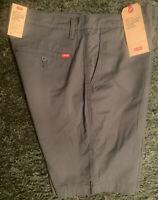 Levi's Men's XX Chino Standard Taper Fit Stretch Shorts Size 36 Dark Slate New