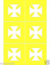 "1.25""X1.25"" iron cross paint mask stencils ,negative set of 6(SINGLE USE ONLY)"