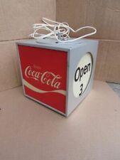 Vintage Coke Coca Cola Rotating Lantern style Light Light up Lamp Sign Backbar