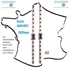 2 Rails de guidage linéaire MGN9 300mm et chariots MGN9C à billes imprimante 3D