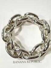 Banana Republic Women's Silver Link Stretch Bracelet NWT 59.50