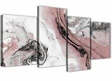 Blush Pink and Grey Living Room Canvas Wall Art Accessories - Abstract Print