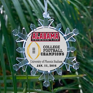 Alabama Crimson Tide Football National Champions Holiday Christmas Tree Ornament