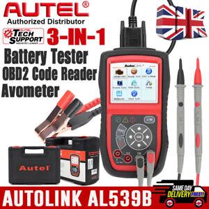 Autel AL539B 12V Auto Battery Tester Car OBD2 Diagnostic Scanner Code Reader UK