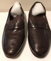 Bally  Mens Brown Leather Loafer Dress Shoes Size 7 EEE Made In Switzerland