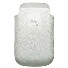 Genuine White Leather Pouch Case Cover for Blackberry Q10 HDW-56737-001 New