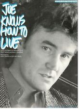 "EDDY RAVEN ""JOE KNOWS HOW TO LIVE"" SHEET MUSIC-PIANO/VOCAL/GUITAR-1987-BRAND NEW"