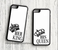 Premium King and Queen his and hers Phone case Samsung s3-s9 iphone 4-9