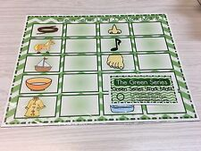 The Green Series - Vowel O Work Mats (20 cards-2 Laminated WorkMats) Montessori
