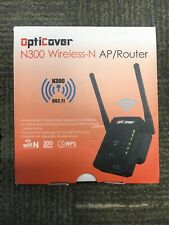 NEW 300mbps OptiCover Wireless N300 WiFi Repeater 802.11 Booster Extender Router